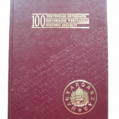 100 Titluri de Valoare istorice. Titlu de valoare. Catalogul prezinta 100 buc