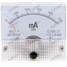 Ampermetru analogic de panou, 500mA DC - 111445