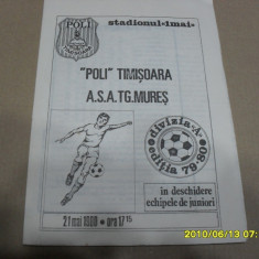 Program Poli Timisoara - ASA Tg. Mures - Program meci