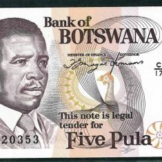 Botswana - 5 Pula ND 1990-1995 - UNC - bancnota africa