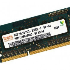 Memorii Laptop SODIMM 2GB DDR3 PC3-8500S/10600S 1066/1333Mhz - Memorie RAM laptop Hynix, 1066 mhz