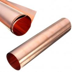 TABLA de CUPRU puritate 99.9% 200mm X 400mm X 0.1mm FOLIE de CUPRU - Arta din Metal