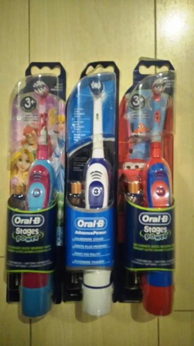 Periuta electrica Oral B Braun cu bateri.