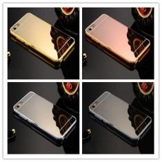 Husa / Bumper aluminiu + spate acril oglinda pentru Google Pixel - Bumper Telefon, Auriu