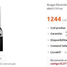 Aragaz Electrolux INOX - EKM51351OX Mixt 4 zone, Cuptor electric + GRATUIT MASA
