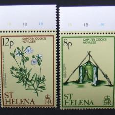 ST. HELENA - CALATORIILE CAPITANULUI COOK, 4 VALORI NEOBLITERATE - E5664