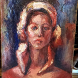 Tablou-Portret de tiganca, Abstract, Ulei