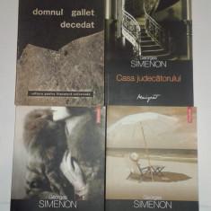 4 CARTI POLITISTE DE G.SIMENON - Carte politiste