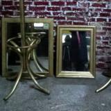 Oglinzi din cristal cu rama de lemn