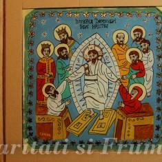 PICTURA PE STICLA, TEMA RELIGIOASA, Crihana Florian Doru, Religie, Acuarela