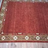 Covor lana 100% lucrat manual Nepal - Covor vechi