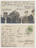 1913 ilustrata zbor Albert Ziegler Sighisoara spre Codlea cu autograf pilot sas, Circulata, Fotografie