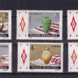 ROMANIA 1988, LP 1198, CERAMICA ROMANEASCA SERIE MNH - Timbre Romania, Nestampilat