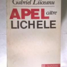 Gabriel Liiceanu – Apel catre lichele - Filosofie