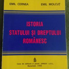 Emil Cernea, Emil Molcut - Istoria statului si dreptului romanesc - Carte Istoria dreptului