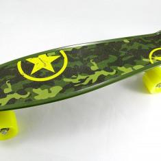 Penny Board Army - Skateboard – Penny Board - Axe Aluminiu - ABEC 7 Carbon - NOU, Marime: 23
