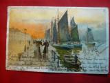 Ilustrata Ostende - Barci de pescuit - Belgia Pitoreasca , circulata, Printata
