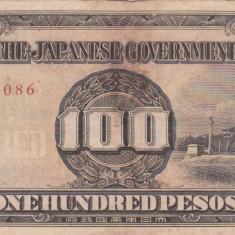 OCUPATIA JAPONEZA IN FILIPINE 100 pesos 1943 VF!!! - bancnota asia