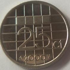 Moneda 25 Centi - OLANDA, anul 2000 *cod 4890 UNC din fasic, Europa