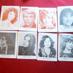 Set 8 calendare cu actori si cantareti romani 1983 - Calendar colectie