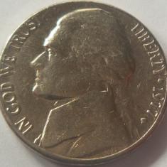 Moneda 5 Centi - SUA, anul 1977 *cod 4886 Litera D, America de Nord