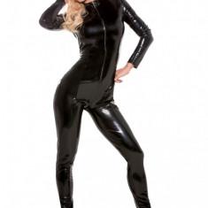 Second Skin Black Catsuit Allure Lingerie - Lenjerie sexy femei, Negru, S