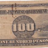 OCUPATIA JAPONEZA IN FILIPINE 100 pesos 1943 F!!! - bancnota asia