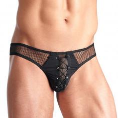 Svenjoyment Chiloti Barbati Plasa Neagra - Lenjerie sexy barbati