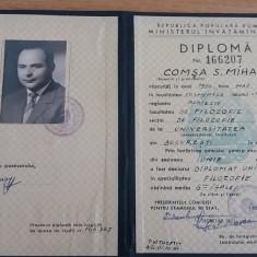 BDA S1 - DIPLOMA ABSOLVIRE - FACULTATEA DE FILOZOFIE - 1964 - PIESA DE COLECTIE