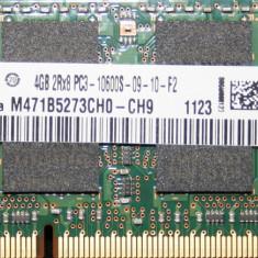 Memorie de laptop DDR3 Sodimm SAMSUNG 4GB FSB1333(PC3-10600S) - Memorie RAM laptop Samsung, 1333 mhz