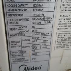 Vind unitate compresor AC MIDEA, 12000 BTU in stare buna de functionare - Aer conditionat Midea, Standard
