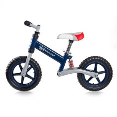 Bicicleta fara Pedale EVO Navy - Bicicleta copii Kinderkraft, 12 inch