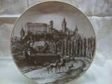 TABLOU / FARFURIE DECORATIVA DIN PORTELAN ROSENTHAL CLASSIC ROSE