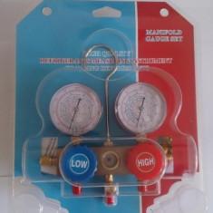 Manometru profesional cu 2 ceasuri freon R134A, R410A, R22, R404 NOU
