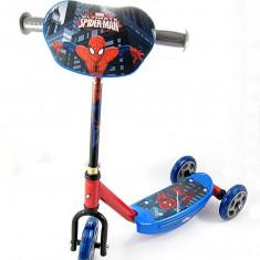 Trotineta cu 3 roti - Spiderman – Noua – cadru metalic – ghidon reglabil - - Trotineta copii, Baiat