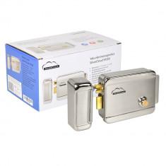 Resigilat : Yala electromagnetica SilverCloud YR300 cu butuc, cu deschidere pe par - Interfon