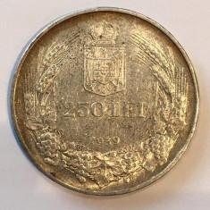 ROMANIA - 250 lei 1939 - ARGINT - Moneda Romania