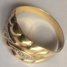 Inel aur 18 K cu diamant - Brosa aur