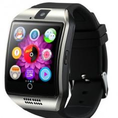 Smartwatch Vogue Q18 Argintiu, Ecran LCD Curbat, Bluetooth, NFC, SIM, Card, Camera, Difuzor, Microfon, Pedometru, Monitorizare somn + Folie ecran...