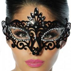Masca Carnaval Venetian - Lenjerie sexy femei, Negru, L