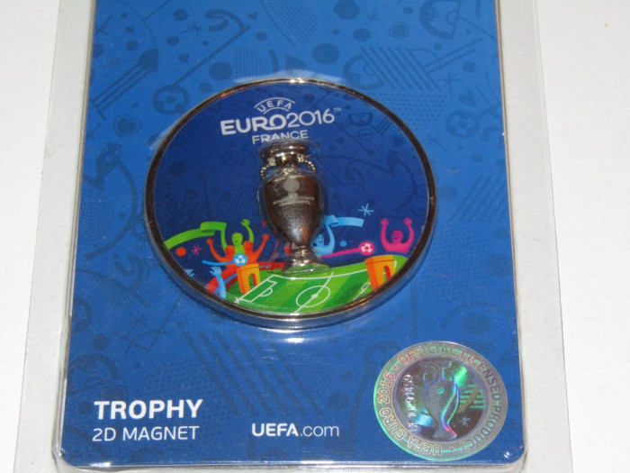 Suvenir suporter fotbal - magnet frigider Campionatul European Franta 2016