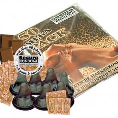 50 buc. Prezervative Negre Secura BOX Ciocolata