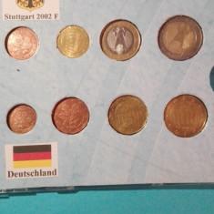 Monede Set Euro Germania Stuttgart 2002F, Europa