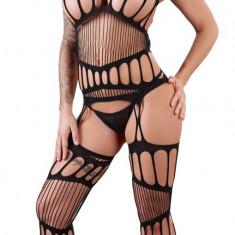 Catsuit Negru & Bikini - Lenjerie sexy femei, L