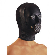 Masca piele cu penis in gura