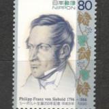 Japonia.1996 200 ani nastere Ph.F. von Siebold-cercetator  KJ.96, Nestampilat