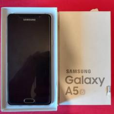 Vand Samsung A5 2016 Gold, la cutie, husa, geam de protectie - Telefon Samsung, Auriu, Neblocat, Single SIM