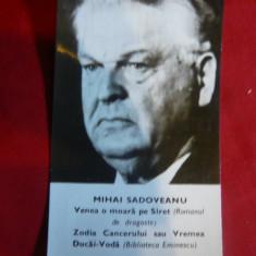 Set 2 Calendare 1973 cu M.Sadoveanu si M.Preda - Calendar colectie