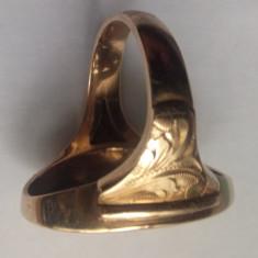 Inel vechi - aur 14 K - Brosa aur