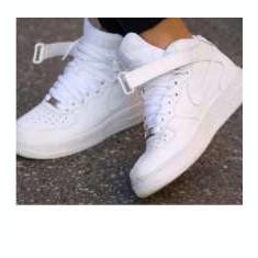 Ghete Nike Air Force One - Adidasi dama Nike, Culoare: Alb, Marime: 36, 44, Piele sintetica